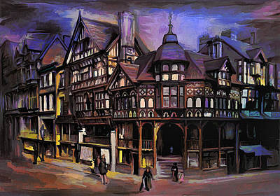 The Cross And Rrows Chester England Original by Andrzej Szczerski
