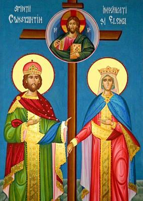 The Cross Icon Art Print by Munir Alawi