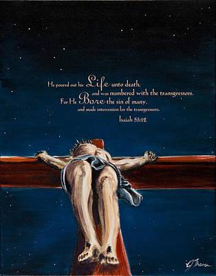 John 3.16 Painting - The Cross by Jennifer Treece