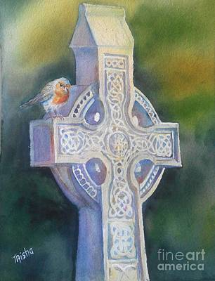 Patrick Painting - The Cross At Maynooth by Patricia Pushaw