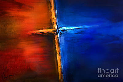 Jewel Tone Mixed Media - The Cross by Shevon Johnson