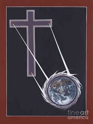 Painting - The Cross Shines On The Last Days by William Hart McNichols