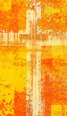 Crucifix Art Digital Art - The Cross Within  by David G Paul