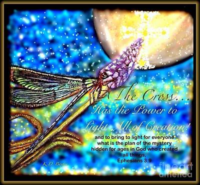 Painting - The Cross... Has The Power To Light All Of Creation At Night by Kimberlee Baxter