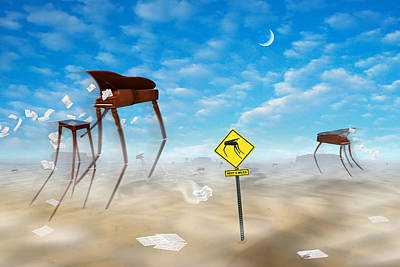 Surrealism Royalty Free Images - The Crossing Royalty-Free Image by Mike McGlothlen