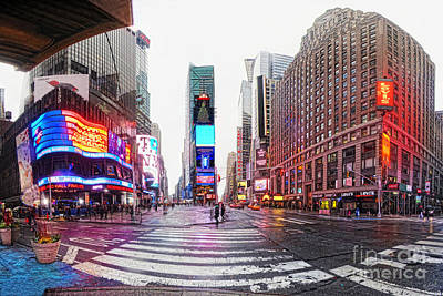 New York Newyork Digital Art - The Crossroads Of The World by Nishanth Gopinathan
