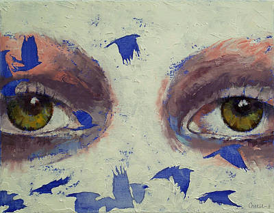 Lowbrow Painting - The Crow Is My Only Friend by Michael Creese