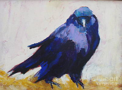 Painting - The Crow by Virginia Dauth