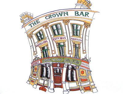 The Crown Bar Belfast Art Print by Tanya Mai Johnston