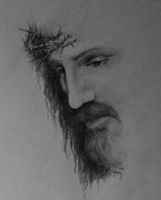 Pencil Drawing Of Jesus Drawing - The Crown by Catherine Howley