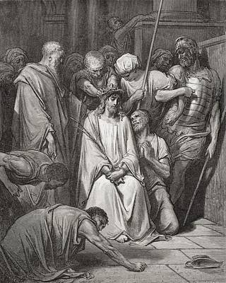 Religious Painting - The Crown Of Thorns by Gustave Dore