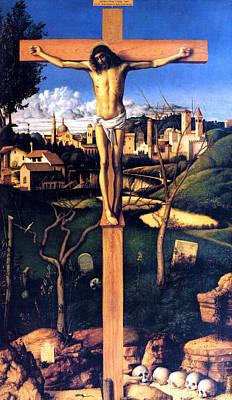 The Crucifixion 1503 Giovanni Bellini Art Print by Karon Melillo DeVega
