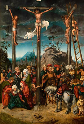 Christian Artwork Painting - The Crucifixion by Mountain Dreams