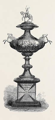 The Crusaders Challenge Cup For The Colombo Races 1869 Print by English School