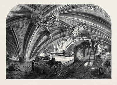 The Crypt Under Old St. Stephens Chapel Westminster Now Art Print