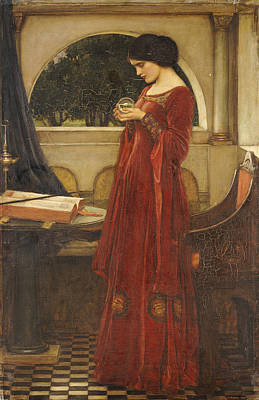 The Crystal Ball, 1902 Oil On Canvas Print by John William Waterhouse