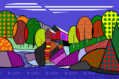 Digital Art - The Crystal Mill by Randall Henrie