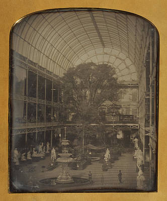 Hyde Park Drawing - The Crystal Palace At Hyde Park, London John Jabez Edwin by Litz Collection