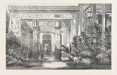 Benis Drawing - The Crystal Palace The Egyptian Court Entrance To The Tomb by Egyptian School