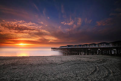 California Ocean Photograph - The Crystal Pier by Larry Marshall