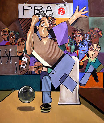 The Cubist Bowler Art Print by Anthony Falbo