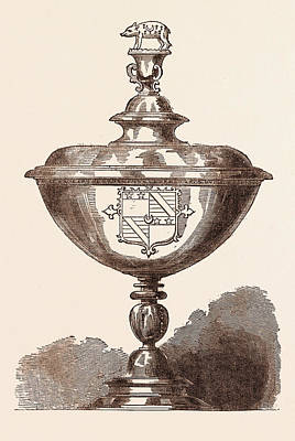The Cup Of Sir Nicholas Bacon, Who Died On February 20 Print by English School