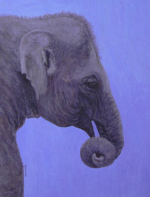 Art Print featuring the painting The Curled Trunk by Margaret Saheed