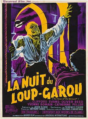 Horror Movies Photograph - The Curse Of The Werewolf Aka La Nuit by Everett