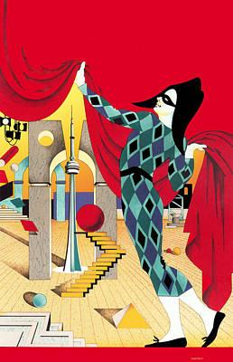 The Curtain Print by David Chestnutt
