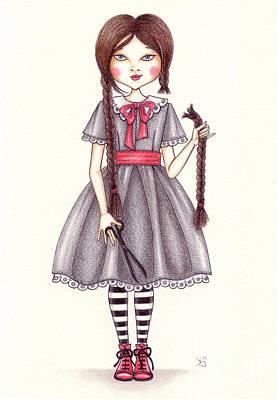 The Cut Art Print by Snezana Kragulj