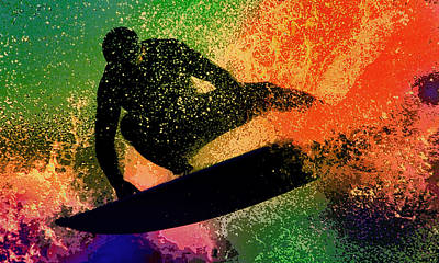 Art Print featuring the photograph The Cutback by Michael Pickett