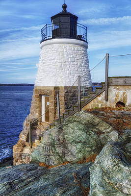Fantasy Royalty-Free and Rights-Managed Images - Castle Hill The Cutest Lighthouse in the World by Joan Carroll