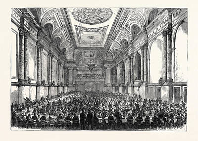 The Cutlers Feast At Sheffield Inauguration Of The New Hall Art Print by English School