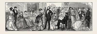 The Cutlers Feast At Sheffield, Uk Conversazione Art Print by English School