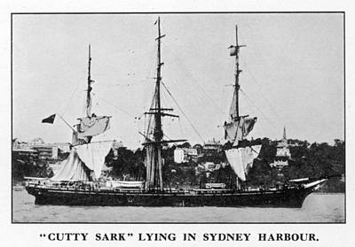 Cutty Sark Photograph - The 'cutty Sark' In Sydney  Harbour by Mary Evans Picture Library