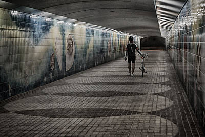 Photograph - The Cyclist by Munir El Kadi