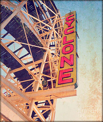Rollercoaster Photograph - The Cyclone by Dawn Mueller
