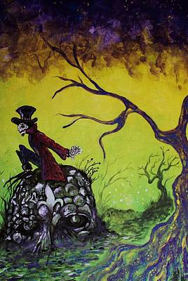 Mardi Gras Painting - The Cypress Dream by Billy Fountain