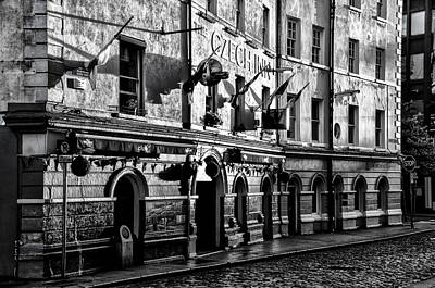 The Czech Inn - Dublin Ireland In Black And White Art Print by Bill Cannon