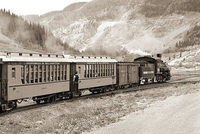 Freight Train Photograph - The D And S Into The Mountains by Mike McGlothlen