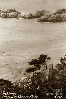 Photograph - The D. L. James House Also Known As Seaward Sits On A Rocky Cliff Near Carmel Circa 1940 by California Views Archives Mr Pat Hathaway Archives