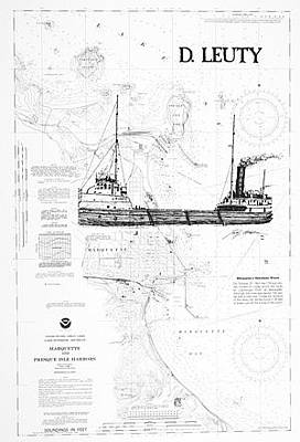 Marquette Drawing - The D. Leuty by Wesley Mutch