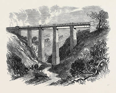 The Daff Viaduct Of The Greenock And Wemyss Bay Railway 1866 Art Print by English School