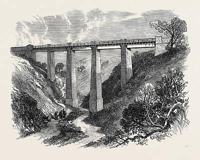 Bay Bridge Drawing - The Daff Viaduct Of The Greenock And Wemyss Bay Railway 1866 by English School