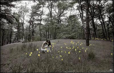 Photograph - The Daffodils by Wayne King