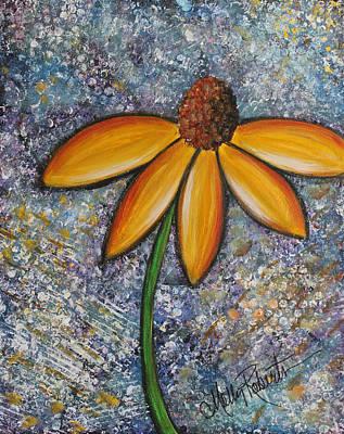 Daisy Bud Painting - The Daisy by Molly Roberts