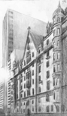 Drawing - The Dakota by Duane Gordon