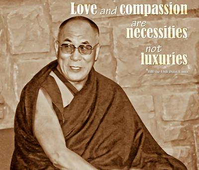 Digital Art - The Dalai Lama by Liz Leyden
