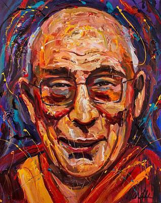 Dalai Lama Painting - The Dalai Lama by Michael Wardle