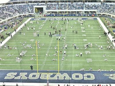 Raiders And Dallas Cowboy Photograph -  Dallas Cowboys And Oakland Raiders  by Donna Wilson